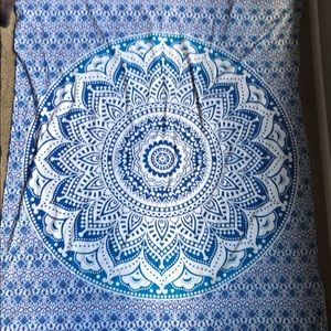 Blue tapestry